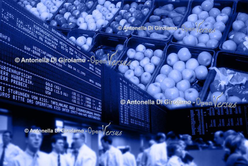 Mercato ortofrutticolo. Fruit and vegetable market..