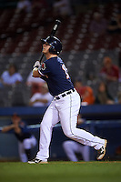 Connecticut Tigers outfielder Jacob Kapstein (18) at bat during the second game of a doubleheader against the Brooklyn Cyclones on September 2, 2015 at Senator Thomas J. Dodd Memorial Stadium in Norwich, Connecticut.  Connecticut defeated Brooklyn 2-1.  (Mike Janes/Four Seam Images)