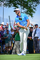 Dustin Johnson (USA) watches his tee shot on 3 during round 7 of the World Golf Championships, Dell Technologies Match Play, Austin Country Club, Austin, Texas, USA. 3/26/2017.<br /> Picture: Golffile | Ken Murray<br /> <br /> <br /> All photo usage must carry mandatory copyright credit (&copy; Golffile | Ken Murray)