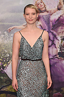 Mia Wasikowska at the premiere of &quot;Alice Through the Looking Glass&quot; at the Odeon Leicester Square, London.<br /> May 10, 2016  London, UK<br /> Picture: Steve Vas / Featureflash