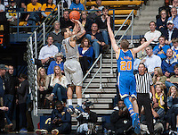 Justin Cobbs of California shoots the ball during the game against UCLA at Haas Pavilion in Berkeley, California on February 19th, 2014.  UCLA defeated California, 86-66.