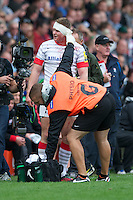 Chris Ashton of Saracens receives medical attention to a blood injury during the Aviva Premiership match between Harlequins and Saracens at the Twickenham Stoop on Sunday 30th September 2012 (Photo by Rob Munro)