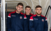 Bolton Wanderers' Jordan Boon , Adam Senior and  Sonny Graham emerge from the tunnel pre-match<br /> <br /> Photographer Andrew Kearns/CameraSport<br /> <br /> The EFL Sky Bet Championship - Bolton Wanderers v Coventry City - Saturday 10th August 2019 - University of Bolton Stadium - Bolton<br /> <br /> World Copyright © 2019 CameraSport. All rights reserved. 43 Linden Ave. Countesthorpe. Leicester. England. LE8 5PG - Tel: +44 (0) 116 277 4147 - admin@camerasport.com - www.camerasport.com