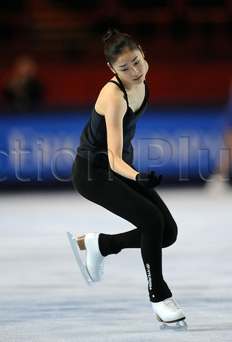 Yu-Na Kim (KOR), November 15, 2009 - Figure Skating : ISU Grand Prix of Figure Skating 2009/2010 the Eric Trophy Bompard 2009, Practice at Palais Omnisports de Paris Bercy in Paris, France (Photo by Atsushi Tomura/Actionplus)