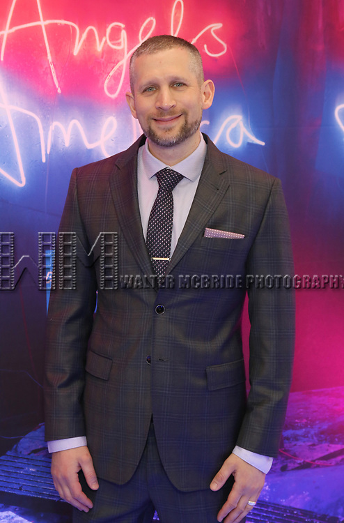 """Tim Levy attends the Broadway Opening Night Arrivals for """"Angels In America"""" - Part One and Part Two at the Neil Simon Theatre on March 25, 2018 in New York City."""