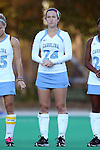 17 October 2014: North Carolina's Alex Grant. The Duke University Blue Devils hosted the University of North Carolina Tar Heels at Jack Katz Stadium in Durham, North Carolina in a 2014 NCAA Division I Field Hockey match. UNC won the game 1-0.