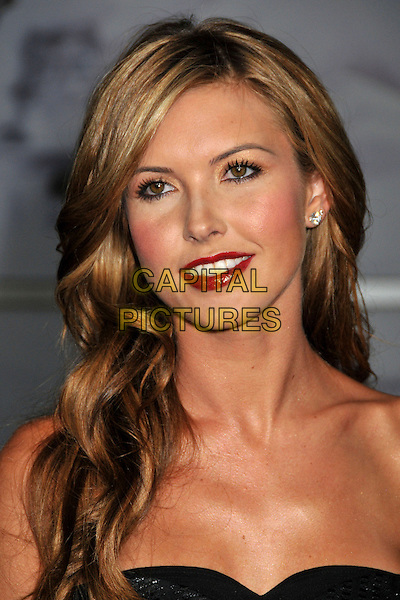 "AUDRINA PATRIDGE .""Sorority Row"" Los Angeles Premiere held at Arclight Cinemas, Hollywood, California, USA, 3rd September 2009..portrait headshot black strapless blonde hair highlights red lipstick .CAP/ADM/BP.©Byron Purvis/Admedia/Capital Pictures"