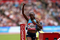 Hellen Obiri of Kenya wins the womenís one mile during the Muller Anniversary Games at The London Stadium on 9th July 2017