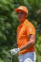Rickie Fowler (USA) watches his tee shot on 9 during round 4 of the Fort Worth Invitational, The Colonial, at Fort Worth, Texas, USA. 5/27/2018.<br /> Picture: Golffile | Ken Murray<br /> <br /> All photo usage must carry mandatory copyright credit (© Golffile | Ken Murray)