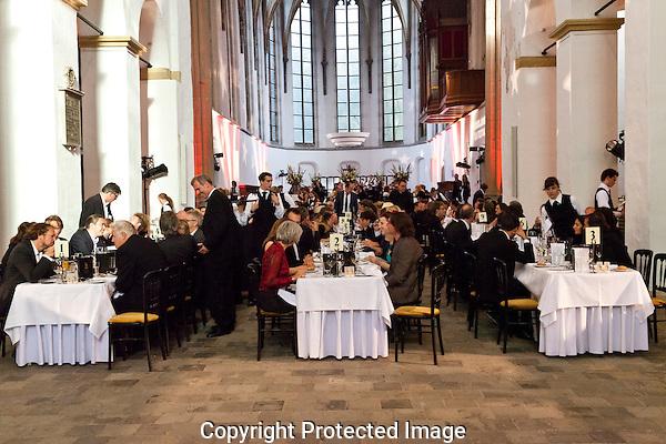 Nederlands Film Festival, Utrecht 5 oktober 2012. Gala diner in de Janskerk. Foto: Nichon Glerum