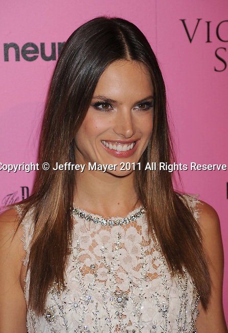"LOS ANGELES, CA - MAY 12: Alessandra Ambrosio arrives to the Victoria's Secret 6th Annual ""What Is Sexy? List: Bombshell Summer Edition"" Pink Carpet Event at The Beverly on May 12, 2011 in Los Angeles, California."