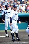 Hidehiko Harada (Ryukoku-Dai Heian),<br /> APRIL 2, 2014 - Baseball :<br /> Ryukoku-Dai Heian's manager Hidehiko Harada before the 86th National High School Baseball Invitational Tournament final game between Ryukoku-Dai Heian 6-2 Riseisha at Koshien Stadium in Hyogo, Japan. (Photo by Katsuro Okazawa/AFLO)