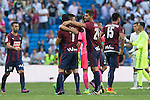 Eibar's Eibar's Ander Capa and Eibar's Mauro dos Santos during the match of La Liga between Real Madrid and SD Eibar at Santiago Bernabeu Stadium in Madrid. October 02, 2016. (ALTERPHOTOS/Rodrigo Jimenez)