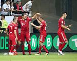 12.08.2018, Commerzbank - Arena, Frankfurt, GER, Supercup, Eintracht Frankfurt vs FC Bayern M&uuml;nchen , <br />DFL REGULATIONS PROHIBIT ANY USE OF PHOTOGRAPHS AS IMAGE SEQUENCES AND/OR QUASI-VIDEO.<br />im Bild<br />Robert Lewandowski (M&uuml;nchen) jubelt &uuml;ber sein Tor zum 2:0<br /> <br /> Foto &copy; nordphoto / Bratic