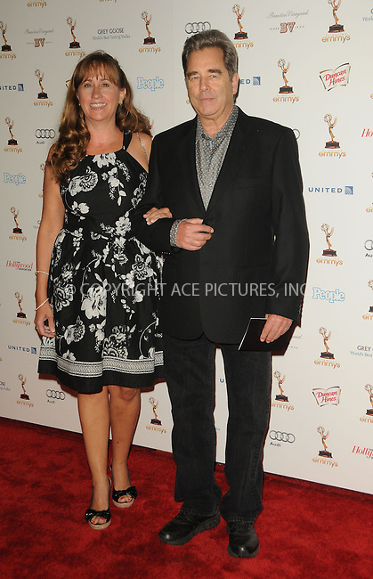 WWW.ACEPIXS.COM . . . . .  ....September 16 2011, LA....Actor Beau Bridges (R) and wife Wendy Treece arriving at the 63rd Annual Emmy Awards Performers Nominee Reception held at Pacific Design Center on September 16, 2011 in West Hollywood, California. ....Please byline: PETER WEST - ACE PICTURES.... *** ***..Ace Pictures, Inc:  ..Philip Vaughan (212) 243-8787 or (646) 679 0430..e-mail: info@acepixs.com..web: http://www.acepixs.com
