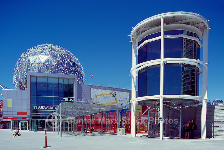 Telus World of Science (aka Science World) at False Creek (renovations completed in 2013), Vancouver, BC, British Columbia, Canada
