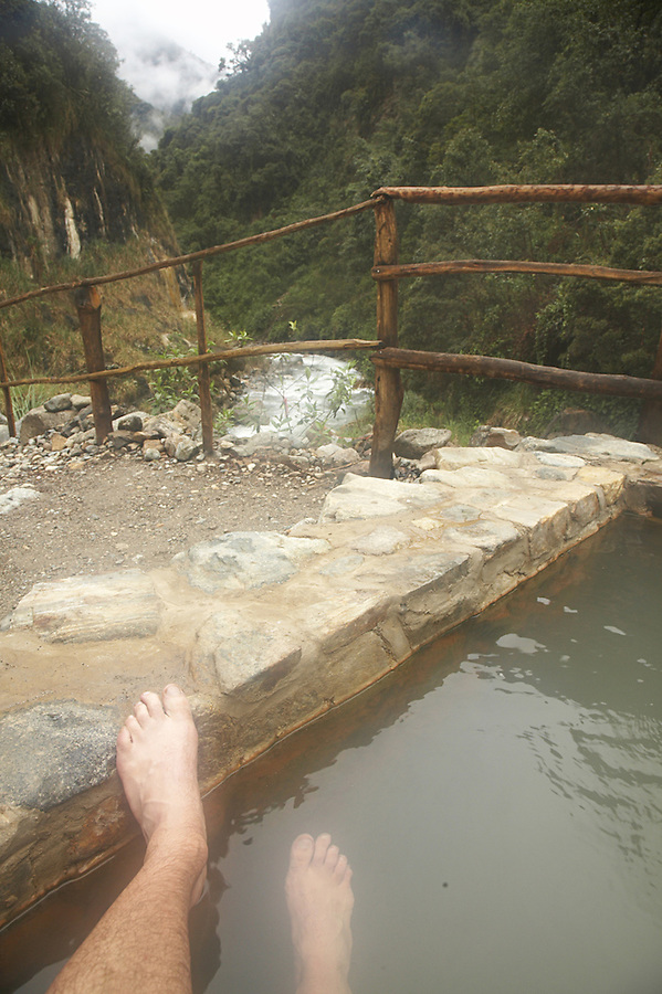 Jungle hot springs at Colcapampa en route from the ruins of Choquequirao through to Machu Picchu.  Also a part of the Salcantay trek.
