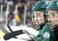 Bemidji State's Radoslav Illo follows the action from the bench during the third period. Bemidji State beat UNO 4-2 Friday night during the first round of the WCHA playoffs at Qwest Center Omaha. (Photo by Michelle Bishop)