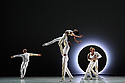 Following its recent 60th anniversary, Alvin Ailey American Dance Theater brings its 32 dancers to Sadler's Wells, presenting a series of new works alongside modern classics in three mixed programmes, from 4th - 14th September. The piece shown is: EN, choreographed by Jessica Lang. The dancers are: Daniel Harder, Ghrai DeVore-Stokes, Chalvar Monteiro, Sarah Daley-Perdomo, Kanji Segawa, Jacquelin Harris, Matthew Rushing, Akua Noni Parker, Jermaine Terry, Jacqueline Gren, Jeroboam Bozeman, Belen Indhira Pereyra, Renaldo Maurice.