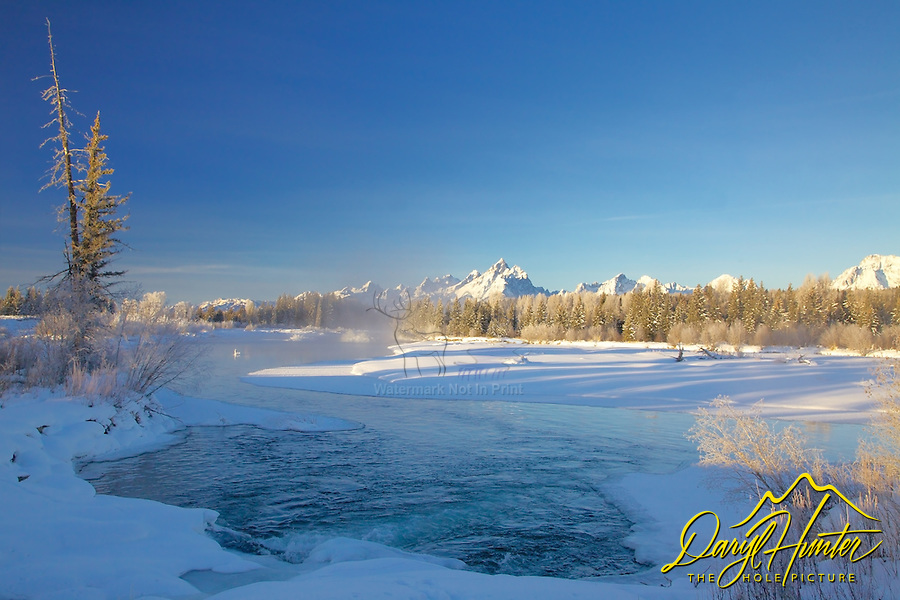Winter, Snake River, Grand Tetons, Grand Teton National Park