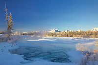 Winter, Snake River, Grand Tetons, Grand Teton National Park<br />