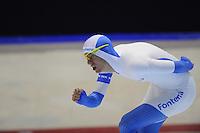 SCHAATSEN: HEERENVEEN: 05-10-2013, IJsstadion Thialf, Trainingwedstrijd, 5000m, Bjorn Bakker, ©foto Martin de Jong