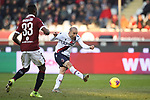 Rodrigo Palacio of Bologna misses a glorious chance to equalise during the Serie A match at Stadio Grande Torino, Turin. Picture date: 12th January 2020. Picture credit should read: Jonathan Moscrop/Sportimage
