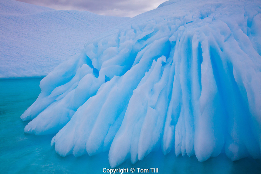 Ice patterns in Pleneau Bay, Antarctic Pennisula, Antarctica