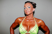 23/10/2010. Irish female physique and figure fitness national championships.  Katarina Cienka (3rd place winner) is pictured backstage during the female figure fitness category as part of the 2010 RIBBF national bodybuilding championships at the University of Limerick Concert Hall, Limerick, Ireland. Picture James Horan.