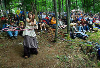 Fans enjoy traditional music during the 52nd Annual Grandfather Mountain Highland Games in Linville, NC.