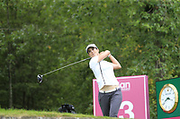 Baetriz Recari (ESP) tees off the 13th tee during Thursday's Round 1 of The Evian Championship 2018, held at the Evian Resort Golf Club, Evian-les-Bains, France. 13th September 2018.<br /> Picture: Eoin Clarke | Golffile<br /> <br /> <br /> All photos usage must carry mandatory copyright credit (&copy; Golffile | Eoin Clarke)