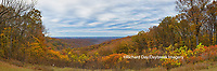 63995-00901 Fall color at overlook, Brown County State Park, IN
