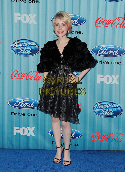"ALEXIS GRACE .at The ""American Idol"" Top 13 Party.at Area in Hollywood, California, USA, March 5th 2009                                                                     .full length black fur jacket dress ankle strap sandals shrug hand on hip .CAP/DVS.©Debbie VanStory/RockinExposures/Capital Pictures"