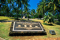 The Brothers in Valor Memorial stands in honor of america's military veterans.  Located near  Fort Derussy park on the gateway to Waikiki.