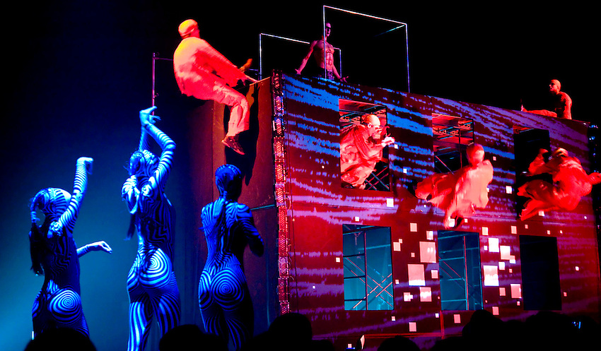 Cirque du Soleil performs at the Adweek Facebook party at Roseland Ballroom on September 30, 2010 in New York City.