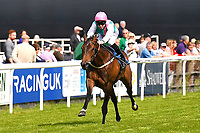 Winner of The Smith & Williamson Fillies' Novice Stakes (Class 5 Sun maiden ridden by Patt Dobbs and trained by Sir Michael Stoute  during Afternoon Racing at Salisbury Racecourse on 17th May 2018