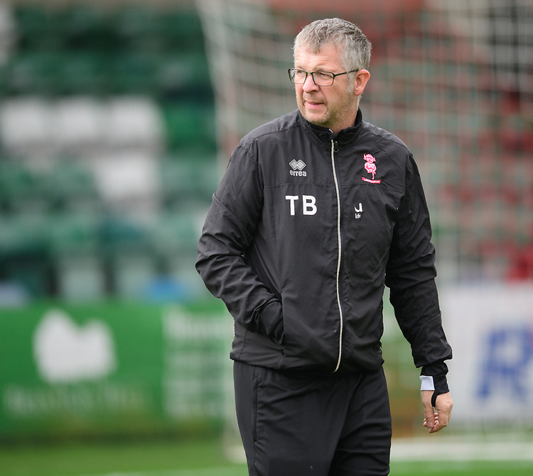 Lincoln City kit manager Terry Bourne during the pre-match warm-up<br /> <br /> Photographer Chris Vaughan/CameraSport<br /> <br /> The EFL Sky Bet League Two - Lincoln City v Mansfield Town - Saturday 24th November 2018 - Sincil Bank - Lincoln<br /> <br /> World Copyright © 2018 CameraSport. All rights reserved. 43 Linden Ave. Countesthorpe. Leicester. England. LE8 5PG - Tel: +44 (0) 116 277 4147 - admin@camerasport.com - www.camerasport.com