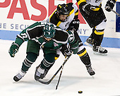 Seth Phelan (PSU - 37), Adam Frank (WIT - 13) - The visiting Plymouth State University Panthers defeated the Wentworth Institute of Technology Leopards 2-1 on Monday, November 19, 2012, at Matthews Arena in Boston, Massachusetts.