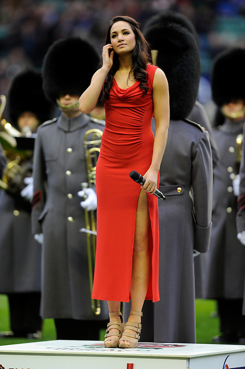 Laura Wright sings the national anthems RBS 6 Nations