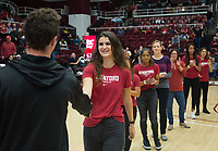 Stanford, CA - January 24, 2020: Taylor Lallas at Maples Pavilion. The Stanford Cardinal defeated the Colorado Buffaloes in overtime, 76-68.