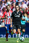 Pablo Sarabia Garcia of Sevilla FC in action during the La Liga 2017-18 match between Atletico de Madrid and Sevilla FC at the Wanda Metropolitano on 23 September 2017 in Madrid, Spain. Photo by Diego Gonzalez / Power Sport Images