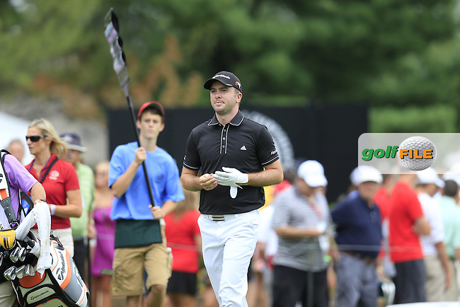 Martin Laird (SCO) walks off the 17th tee during Friday's Round 1 of the 2013 Bridgestone Invitational WGC tournament held at the Firestone Country Club, Akron, Ohio. 2nd August 2013.<br /> Picture: Eoin Clarke www.golffile.ie