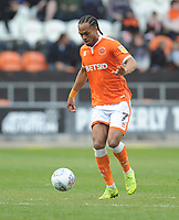 Blackpool's Nathan Delfouneso<br /> <br /> Photographer Kevin Barnes/CameraSport<br /> <br /> The EFL Sky Bet League One - Blackpool v Gillingham - Saturday 4th May 2019 - Bloomfield Road - Blackpool<br /> <br /> World Copyright © 2019 CameraSport. All rights reserved. 43 Linden Ave. Countesthorpe. Leicester. England. LE8 5PG - Tel: +44 (0) 116 277 4147 - admin@camerasport.com - www.camerasport.com
