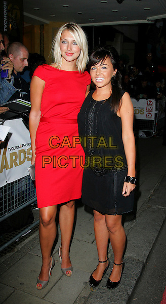 "ALI BASTIAN & LOUISA LYTTON.Arrivals at TV Quick & TV Choice Awards.held at the Dorchester Hotel, Park Lane, London, England, September 3rd 2007.full length red dress black dress shoes ""The Bill"" cast Lyton.CAP/ROS.©Steve Ross/Capital Pictures"