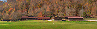 The stables during Fall on the Buffalo National River at the Steel Creek Campground.