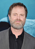 HOLLYWOOD, CA - AUGUST 06: Rainn Wilson attends the premiere of Warner Bros. Pictures and Gravity Pictures' Premiere of 'The Meg' at the TLC Chinese Theatre on August 06, 2018 in Hollywood, California.<br /> CAP/ROT/TM<br /> &copy;TM/ROT/Capital Pictures