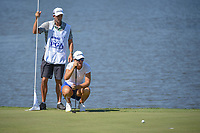 Anna Nordqvist (SWE) lines up her putt on 7 during round 2 of the 2018 KPMG Women's PGA Championship, Kemper Lakes Golf Club, at Kildeer, Illinois, USA. 6/29/2018.<br /> Picture: Golffile | Ken Murray<br /> <br /> All photo usage must carry mandatory copyright credit (© Golffile | Ken Murray)