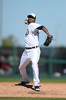 Detroit Tigers pitcher Al Alburquerque (62) during a spring training game against the St. Louis Cardinals on March 3, 2014 at Joker Marchant Stadium in Lakeland, Florida.  Detroit defeated St. Louis 8-5.  (Mike Janes/Four Seam Images)