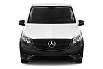 Car photography straight front view of a 2019 Mercedes Benz Vito Base 4 Door Car Van Front View