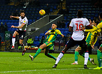 Bolton Wanderers' Jason Lowe shoots at goal <br /> <br /> Photographer Alex Dodd/CameraSport<br /> <br /> The EFL Sky Bet Championship - Bolton Wanderers v West Bromwich Albion - Monday 21st January 2019 - University of Bolton Stadium - Bolton<br /> <br /> World Copyright © 2019 CameraSport. All rights reserved. 43 Linden Ave. Countesthorpe. Leicester. England. LE8 5PG - Tel: +44 (0) 116 277 4147 - admin@camerasport.com - www.camerasport.com